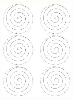 Spiral pattern use the printable outline for crafts for Rolled paper roses template