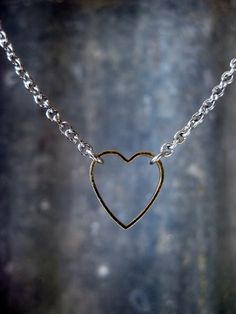 Pretty Birds Creations - Stainless Steel and Gold Heart Necklace from the Industrial Collection at prettybirds.co.nz Pretty Birds, Heart Of Gold, Industrial, Stainless Steel, Diamond, Silver, Collection, Jewelry, Style