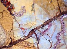 Textile Artist Lauree Brown | Rock pools (detail)