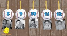 1 12 Month Baseball Sports Photo Banner The Big One sports Baseball Birthday Invitations, Baseball Theme Birthday, Boys First Birthday Party Ideas, One Year Birthday, Sports Birthday, Baseball Party, 1st Boy Birthday, Birthday Photos, Baseball Kids