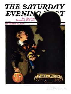 """""""Halloween, 1926,"""" Saturday Evening Post Cover, October 30, 1926 Giclee Print by Edgar Franklin Wittmack at AllPosters.com"""