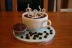 Para las amantes del café un pastel #Boda, #DespedidaSoltera, #IdeasOriginales, #Pastel  http://www.lacasadelosvestidos.com/?p=2248
