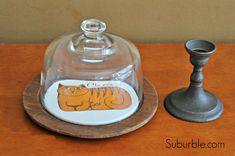 Make Your Own Cloche from cheese tray