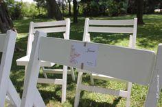 Tag para asignar asientos en la ceremonia.