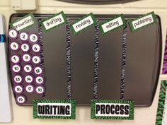 zebra library book labels | Magnetic Interactive Writing Process Chart