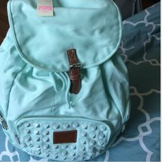 Backpack in Teal by VS-Pink Super CUTE!!! Teal color with 3 zippers. Brand New with tag. NEVER USED Kept very clean no spots no dirt. No trades. *Price is Firm‼️ PINK Victoria's Secret Bags Backpacks