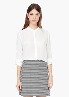 Lejąca bluzka | MANGO jedwab http://shop.mango.com/PL/p0/kobieta/odziez/koszule/lejaca-bluzka/?id=53095517_02&n=1&s=prendas.blusas&ident=0__0_1450562857098&ts=1450562857098&p=9&page=1
