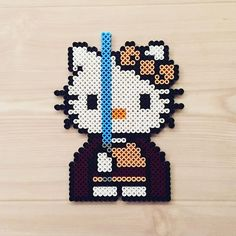 Jedi Kitty - Star Wars perler beads by kittybeads