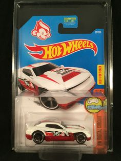 2016 Hot Wheels HW Digital Circuit D MUSCLE White #29 Year of Monkey w/ PROTECTO #HotWheels #DMuscle