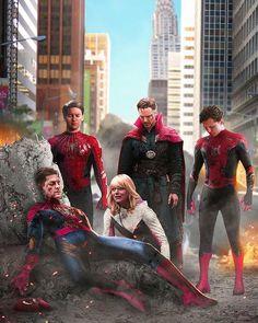 New Spiderman Movie, Black Spiderman, Spiderman Spider, Amazing Spiderman, Spiderman Poses, Spider Gwen, Marvel Comic Character, Marvel Characters, Superhero Poster