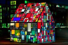 coloured glass house