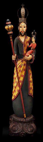 "Gourd art ""Saint Joseph and Christ Child"" by Mark and Karen Klay"