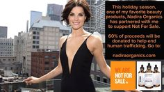 This holiday season join me in raising money for a charity that I am very passionate about. Not for Sale @nfs is an organization dedicated to end human trafficking. One of my favorite argan oil brands has agreed to donate 60% of all proceeds purchased from now until Christmas. Go to:  http://ift.tt/1gFDb1a  and let's help a non-profit that really makes a difference! @nadira.organics