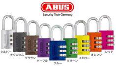 ABUS(アバス)ダイヤル式暗証番号南京錠145/20【豊富なカラーで個人識別に最適】