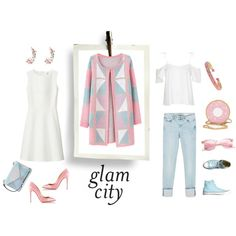 Glam city by luisa on Polyvore featuring moda, Uniqlo, Topshop, Chicnova Fashion, Zara, Converse, Christian Louboutin, GUESS, Stella & Dot and River Island