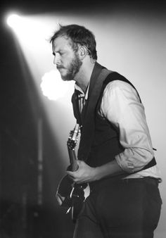 Justin Vernon of Bon Iver  I don't know anyone else who can say so much through saying so little.
