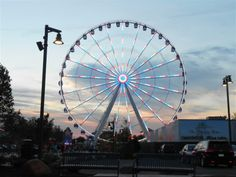 We didn't get a chance to ride the new ferris wheel at the Island in Pigeon Forge but we got a pretty pic of it.   ~ Our Pigeon Forge Vacay July, 2013