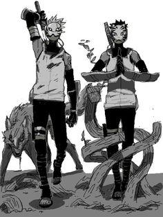 Kakashi and Tenzou/Yamato Anbu Character Design, Anime Comics, Naruto Characters, Anime, Anime Naruto, Cartoon, Anime Characters, Manga, Boruto