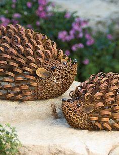 Many gardeners have a soft spot for hedgehogs. Ours are almost as adorable as the real thing, with whimsical steel curlicues and a painted finish that will gradually acquire a rusty patina.