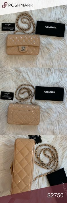 dfd0df3ad01ab8 Chanel mini flap rectangular 💯 Authentic Chanel mini flap rectangular in  patent leather. Excellent condition