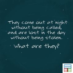 Didn't you get this one? They are called STARS.  #Riddles #Kids #Knowledge #Brain