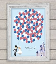 Disney wedding guestbook! So neat. #unique #creative #guestbook #Disney #wedding Shop: MDB Weddings ---> https://www.etsy.com/transaction/203852172