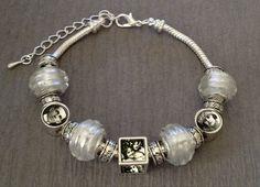 White European Bead Photo Bracelet