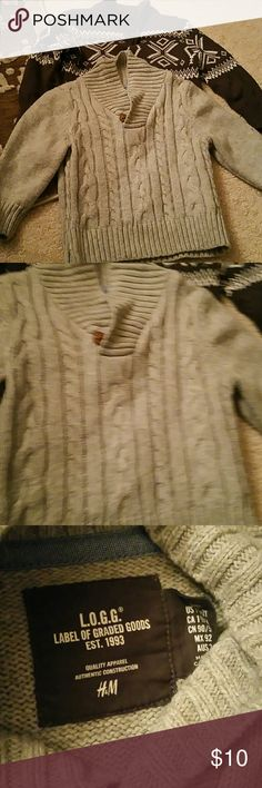BOGO 2 Boys  Sweaters - 2T H&M Light Gray Sweater - Size 2T  Arizona Dark Gray Sweater - Size 2T   Buy One Item and Get ONE Item FREE. FREE items same value or LESS  Very Simple....  BUNDLE BOTH ITEMS AND OFFER ME THE PRICE OF THE MOST EXPENSIVE....  Excludes Mannequins.... Shirts & Tops Sweaters