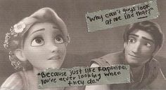 This is the sweetest thing--I have the biggest crush on Flynn Rider.
