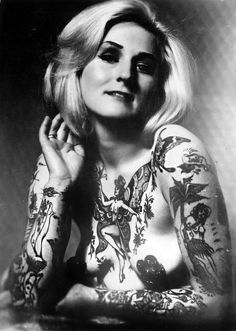 We especially love the naked pixie chest piece. #InkedMagazine #vintage #tattooed #tattoos #Photography