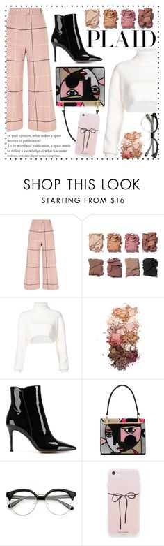 """Check It: Plaid✅"" by ailaaaa07 ❤ liked on Polyvore featuring River Island, Illamasqua, Alexandre Vauthier, Sigma, Gianvito Rossi, Prada and plaid"