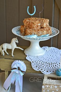 Pony Birthday Party Ideas!  See more party ideas at CatchMyParty.com!