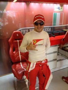 Felipe Massa before FP3 - 2013 Australian GP