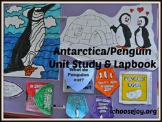 Resources used for Antarctica unit study and penguin lapbook (books, movies, crafts, lapbook, student workbook)