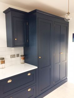 a beautiful example of one of our handmade kitchens - we love the colours and accessories on this one