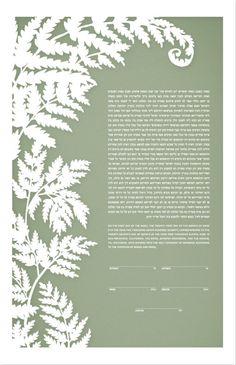 Papercut Ketubah - Ferns. $510.00, via Etsy.