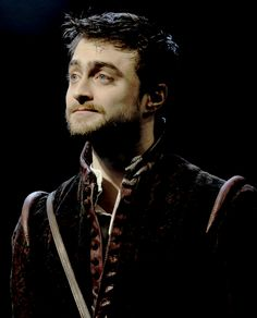 Daniel Radcliffe as Rosencrantz in Tom Stoppard's Rosencrantz & Guildenstern Are Dead directed by David Leveaux at The Old Vic Theatre on March 3, 2017 in London.