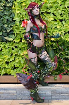 Zyra from League of Legends, photo by Anna Fischer, from PAX East.