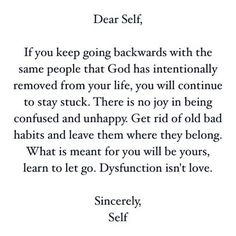 This is very important to see in our lives as it is the only way to stop the dysfunction. ...break the chain and STOP this dysfunctional behavior from continuing for generations to come.