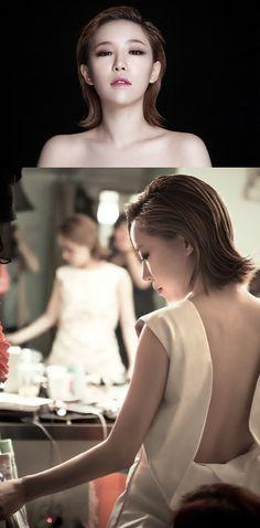"Ga In Shows Off Her Sleek and Silky Skin for ""Espoir"" - Soompi Korean Face, Ga In, Brown Eyed Girls, Korea Fashion, Pretty Woman, One Shoulder Wedding Dress, Short Hair Styles, Photoshoot, Actresses"