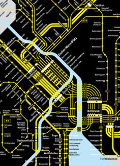 Zurich nighttime transport |  transit maps