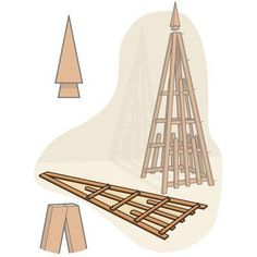How to Build a Pyramid Trellis from This Old House #howtobuildabirdhouse #buildabirdhouse