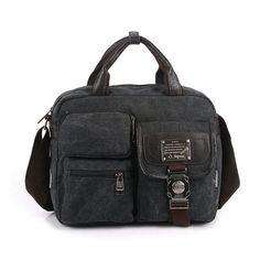 Men's Briefcase Fashion Unisex Shoulder Bag Handbags Korean Style Travel Shoulder Messenger Canvas Bag Casual Men Postman Bags