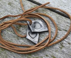 Forged Heart Pendant by AndyBlackForge on Etsy