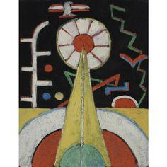 """Berlin Series, No. 1,"" Marsden Hartley, ca. 1913, oil on canvasboard, 18 x 15"", private collection."
