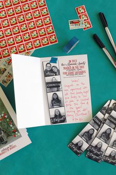 Feeling completely inspired by this Christmas card... Love the photo booth (always do), love the vintage stamps, love the space for a personal message. Love. Normally totally opposed to Christmas this early, but I'm feeling the itch now!