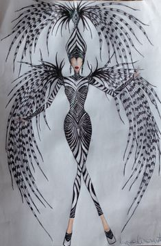 Figurino Composicao Realistic Costumes, Scary Costumes, Theatre Costumes, Halloween Costumes, Mardi Gras Costumes, Carnival Costumes, Fashion Illustration Hair, Carnival Fashion, Alexander Mcqueen Savage Beauty