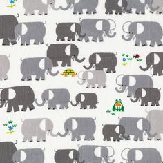 Elephants from Ed Emberley Cloud 9 ORGANIC by simplififabric, $8.25