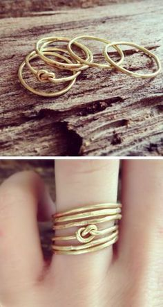Infinity Love Knot Stacking Rings ♥