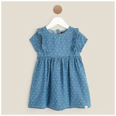2bd091610fd0c IN EXTENSO Robe en jean bébé fille(BLEACHED